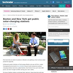 Boston and New York get public solar-charging stations