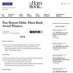 Past Boston Globe–Horn Book Award Winners