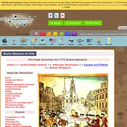 Boston Massacre for Kids «