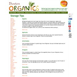 Boston Organics: Tips