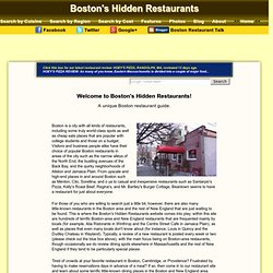 Boston Restaurant Guide | Boston's Hidden Restaurants