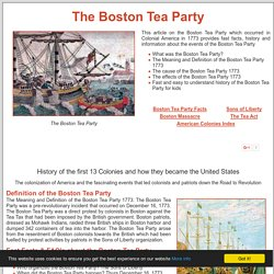 Boston Tea Party of 1773 ***