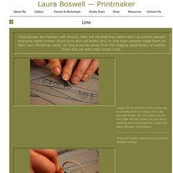 : : Laura Boswell - Printmaker - Linocutting : :