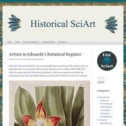 Artists in Edwards's Botanical Register