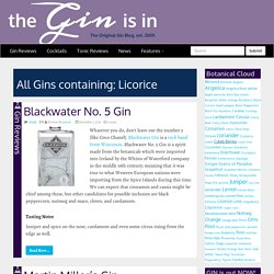 Gin Botanicals: Licorice Archives