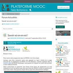 MOOC Botanique - initiation: Savoir où on en est !