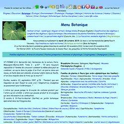 Botanique : familles et physiologie végétales