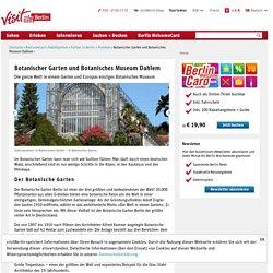 Botanischer Garten und Botanisches Museum Dahlem - visitBerlin.de