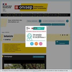 botaniste - Onisep