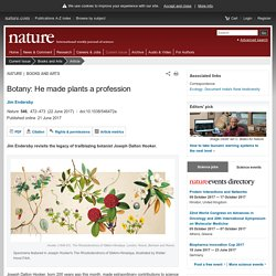 Botany: He made plants a profession : Nature : Nature Research