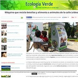 Máquina que recicla botellas y alimenta a animales de la calle (vídeo)