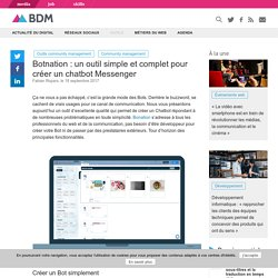 Botnation : un outil simple et complet pour créer un chatbot Messenger - Blog du Modérateur