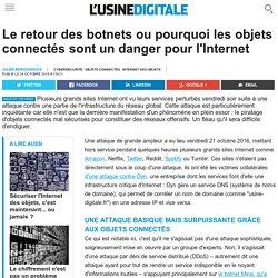 Le retour des botnets ou pourquoi les objets connectés sont un danger pour l'Internet