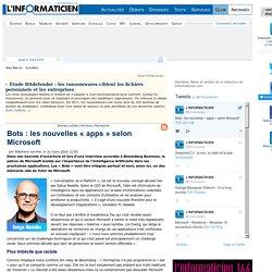 Bots : les nouvelles « apps » selon Microsoft