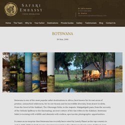 Botswana Safari - Travel Agents in Botswana