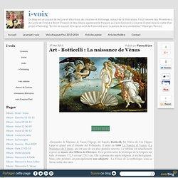Art - Botticelli : La naissance de Vénus