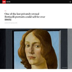 Botticelli portrait could sell at auction for over $80M - CNN Style