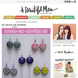 DIY Bottle Cap Earrings