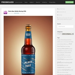 Retro Beer Bottle Mockup PSD - Freebiesjedi