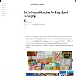 Bottle Shaped Pouches For Easy Liquid Packaging