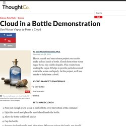 How to Make a Cloud in a Bottle - Science Demonstration
