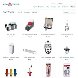 Bar Tools, Bottle Stoppers and Opener Wall - Home Of Coffee