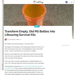 This Old Pill Bottle May Look Like Trash, But It Could Save Your Life. I'm Doing This Tonight!
