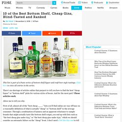 10 of the Best Bottom Shelf, Cheap Gins, Blind-Tasted and Ranked - Paste