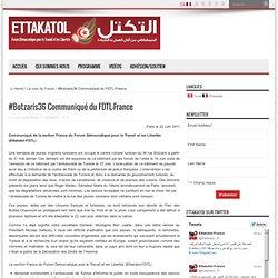 #Botzaris36 Communiqué du FDTL-France