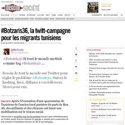 #Botzaris36, la twitt-campagne pour les migrants tunisiens