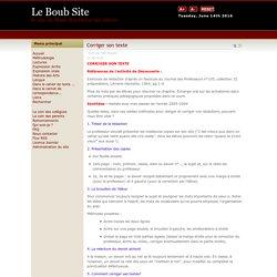 Le Boub Site - le site de Mme Boublil et de ses élèves - Corriger son texte