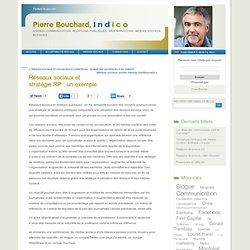 Pierre Bouchard INDICO » Réseaux sociaux et stratégie RP : un exemple