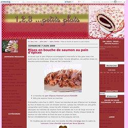 Mises en bouche de saumon au pain d'épices