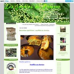 Bouchées apéritives : soufflés au chorizo