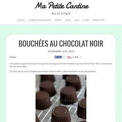 Bouchées au chocolat noir