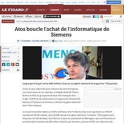 ATOS rachète Siemens informatique