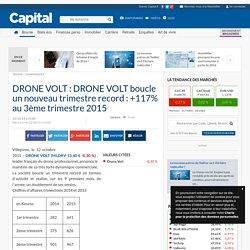 DRONE VOLT : DRONE VOLT boucle un nouveau trimestre record : +117% au 3ème trimestre 2015
