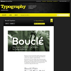 Bouclé Typeface on Typography Served
