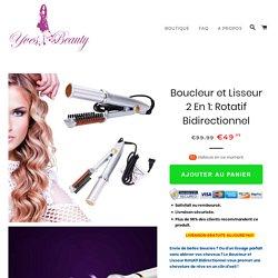 Boucleur et Lisseur 2 En 1: Rotatif Bidirectionnel – Yves-Beauty