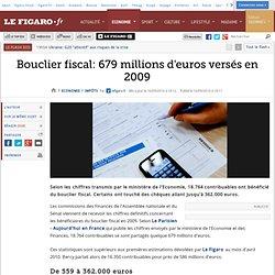 Impôts : Bouclier fiscal: 679 millions d'euros versés en 2009
