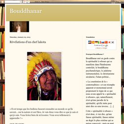 Révélations d'un chef lakota