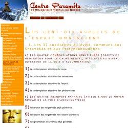 Centre Paramita de Bouddhisme Tibétain du Québec - Les 110 aspects de l'omniscience