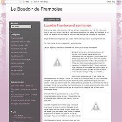 Le Boudoir de Framboise: La petite Framboise et son hymen.