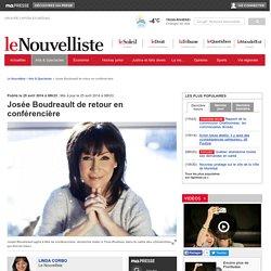 Josée Boudreault de retour en conférencière