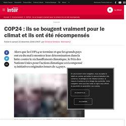 COP24 : ils se bougent vraiment pour le climat et ils ont été récompensés