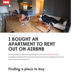 I bought an apartment to rent out on airbnb