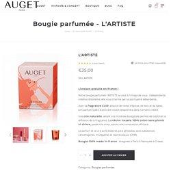 Bougie parfumée l'ARTISTE - Cuir - AUGET - Made in France