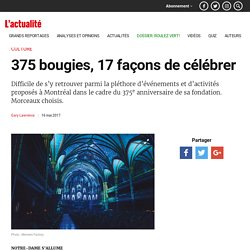 375 bougies, 17 façons de célébrer