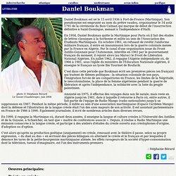Daniel Boukman l'insoumis
