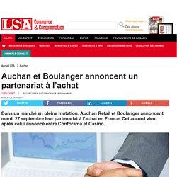 Auchan et Boulanger annoncent un partenariat...
